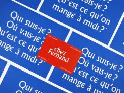 Überknackig project : chez Fernand - opening postacard - menu