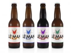 Überknackig project : Léman - Beer label Léman blonde, blanche, brune, ambrée